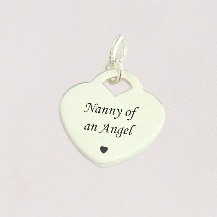 Nanny of an Angel Charm, Sterling Silver Heart | Someone Remembered